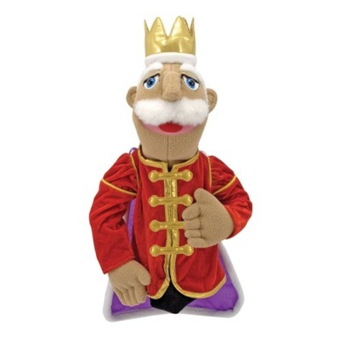 Melissa & Doug King Puppet With Detachable Wooden Rod for Animated Gestures