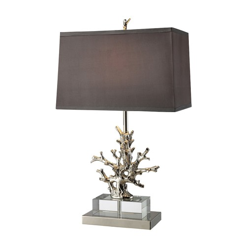Elk Lighting D1867 Silver Coral Branch Table Lamp
