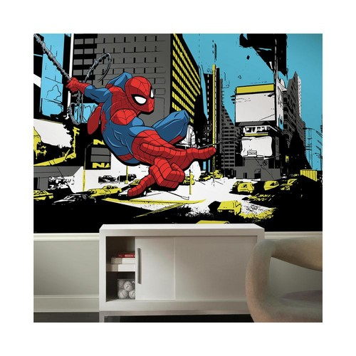 RoomMates 72 in. x 126 in. Spider-Man Classic XL Chair Rail 7-Panel Prepasted Mural
