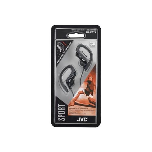 JVC(R) Ear-Clip Earbuds (Black) - PET