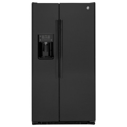 GE 21.9 Cu. Ft. Side-by-Side Refrigerator - Black on Black