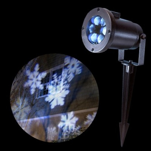 LumaBase Electric LED White Snowflake Projector Light