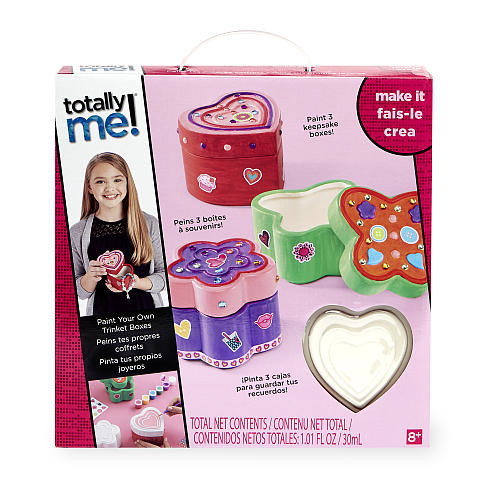 Totally Me! Paint Your Own Trinket Boxes Craft Kit