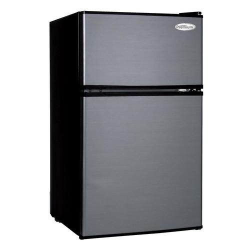 PREMIUM 3.1 cu. ft. Mini Refrigerator in Black with Stainless Steel Door