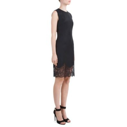 GIVENCHY Lace-Hem Wool Sheath Dress