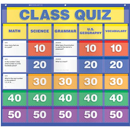 Scholastic Teacher Resources Pocket Chart, Class Quiz, 33