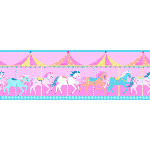 Carousel Peel & Stick Wall Decal Border