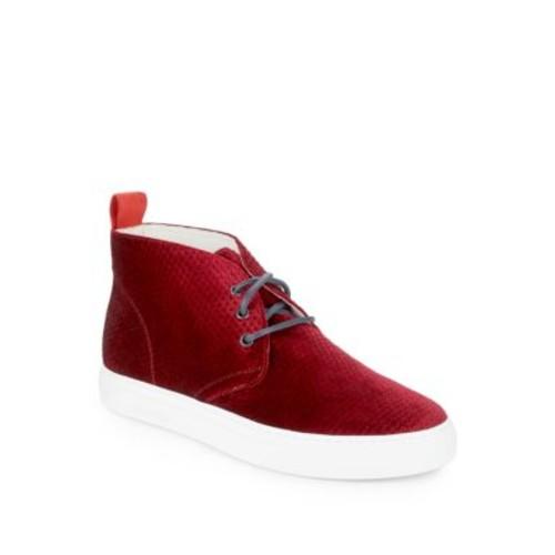 Del Toro - Embossed Velvet Sneakers