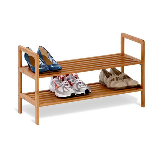 Honey-Can-Do 2-tier stackable bamboo shoe shelf