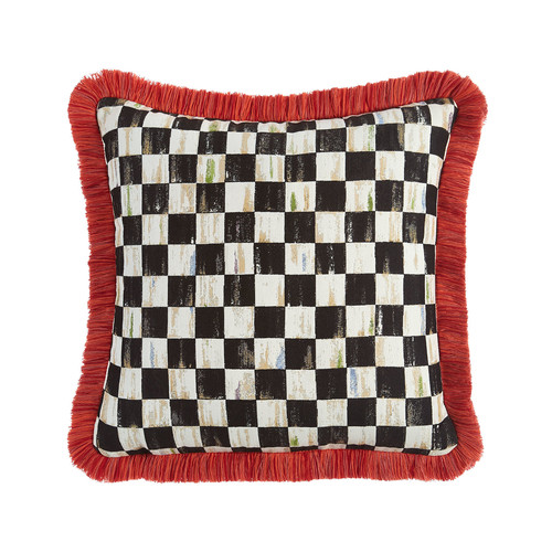 Courtly Check Spindle Outdoor Cushion