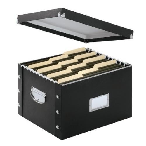 Snap-N-Store File Box - Black
