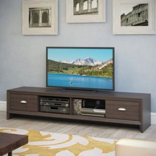 Sonax CorLiving Lakewood Extra Wide TV Bench in Modern Wenge Finish