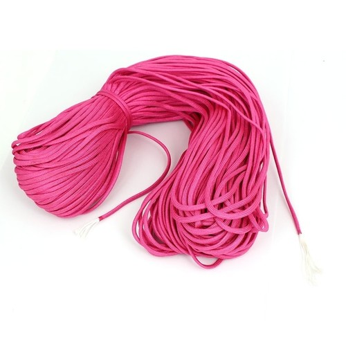 100M Length Outdoor Hiking Umbrella Tied Tent Survival Cord Safety Rope Rose Red