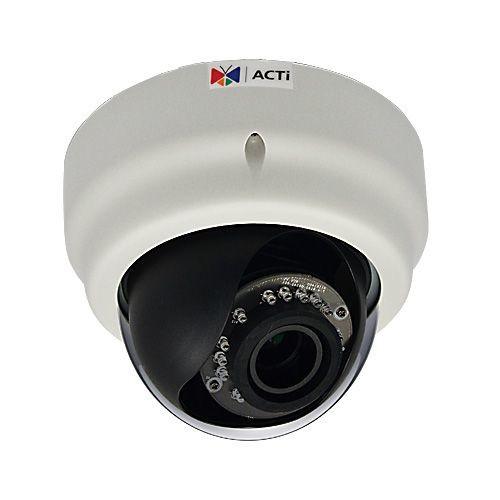 ACTI E62A - Network surveillance camera - dome - vandal-proof - color ( Day&Night ) - 5 MP - 2048 x 1536 - 1080p - fixed iris - vari-focal - 1350 TVL - audio - 10/100 - MJPEG, H.264 - (E62A)