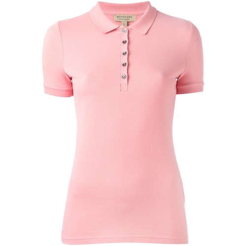 BURBERRY Snap Fastening Polo Shirt