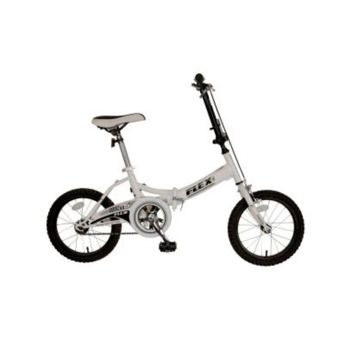 Mantis Flex Folding Bicycle, 16 in. Wheels, 11 in. Frame, Unisex in White