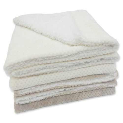 Popcorn Oversize Velvet Plush Throw Blanket