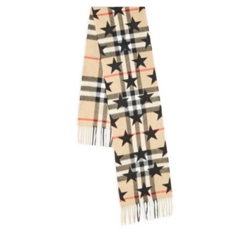 BURBERRY Stars Plaid Cashmere Scarf