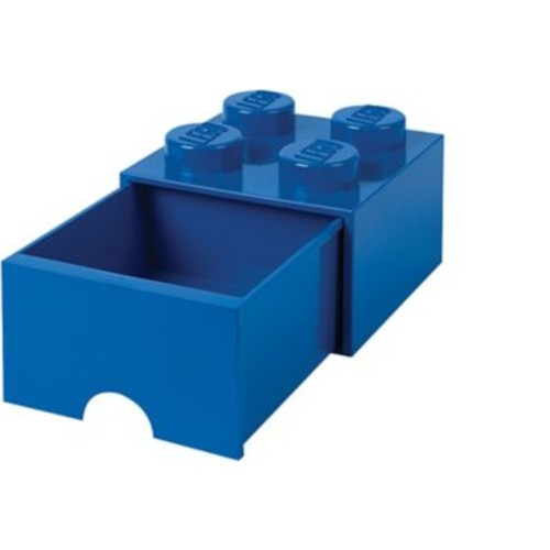 LEGO Storage Brick Drawer 4 Bright Blue