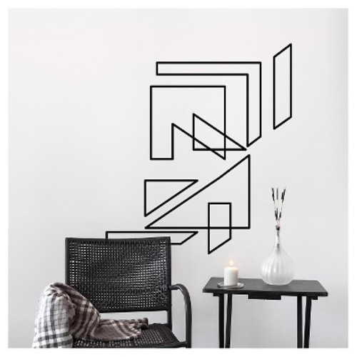 Stele Wall Decal Black