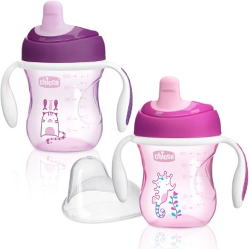 Chicco NaturalFit Semi-soft Spout 7oz Trainer Cup - Pink (2pk)