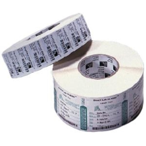 Zebra Label Paper 4 x 6in Direct Thermal Zebra Z-Perform 2000D 3 in core - Permanent Adhesive - 4