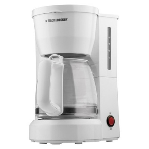BLACK + DECKER - 5 Cup Coffee Maker - White