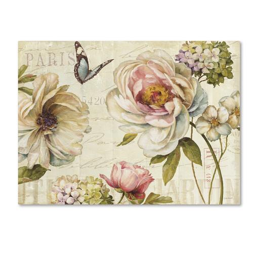 Lisa Audit 'Marche de Fleurs IV' Canvas Art [option : 14x19 Wrapped Canvas Art]