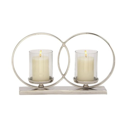 Studio 350 Candles & Candle Holders Sassy Aluminum Glass Candle Holder