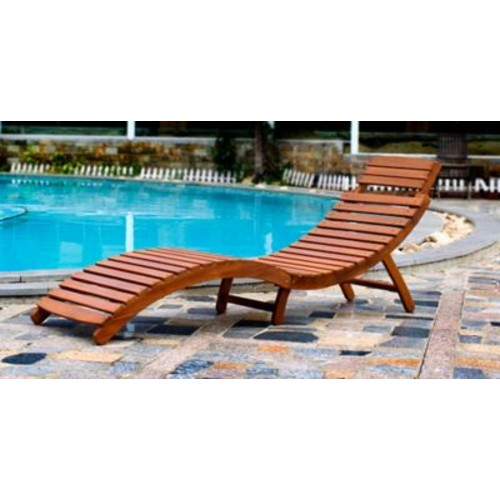 Merry Products Curved Folding Chaise Lounge