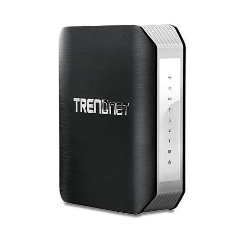 TRENDnet AC1900 Dual Band Wireless Router - Dual Band(2.4GHz/5GHz), 4x Gigabit LAN, 1x Gigabit WAN, IEEE 802.11 a/b/g/n/ac, WPS Button, WPA2 Encryption, USB 3.0 - TEW-818DRU