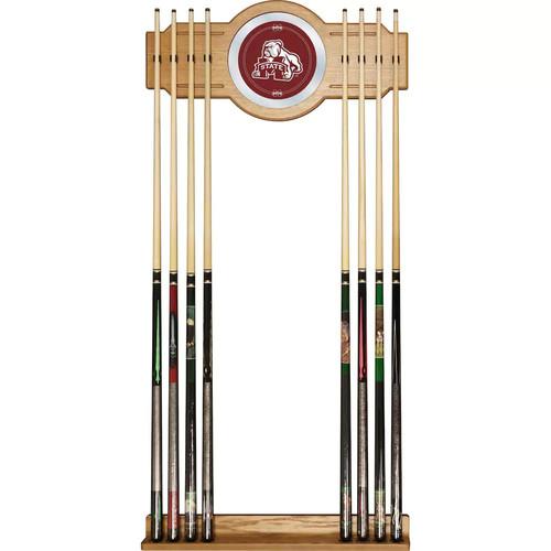Mississippi State Bulldogs Billiard Cue Rack with Mirror
