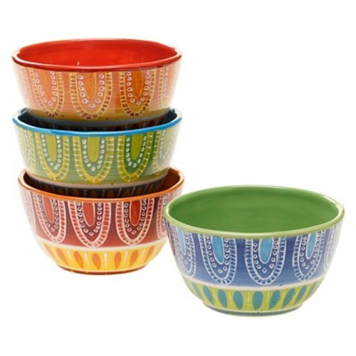 Certified International Tapas Collection Bowls Multi-Color - Set of 4