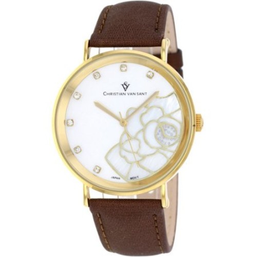 Christian Van Sant Women's Fleur Watch Quartz Mineral Crystal CV2212