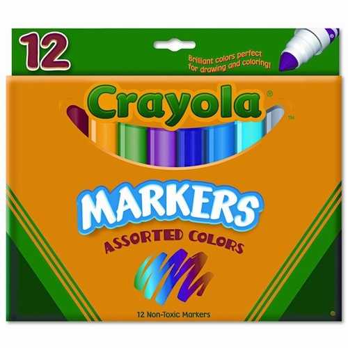 Non-Washable Broad Point Markers(12/Set)