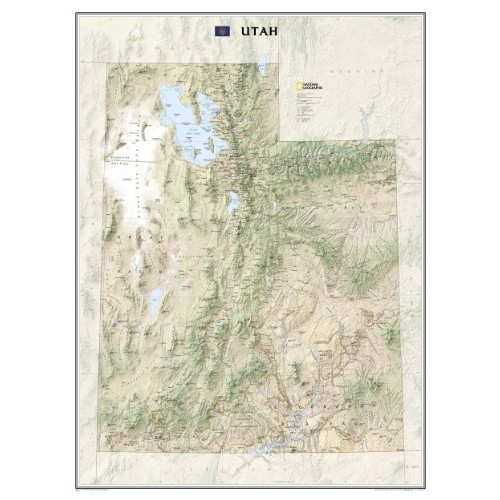 Utah [Tubed] (National Geographic Reference Map)
