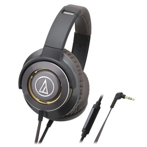 Audio Technica Solid Bass Over-Ear Headphones with In-line Mic & Control - Gun Metal (ATH-WS770iSGM)