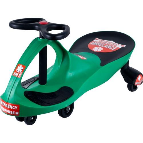 Lil' Rider Green Responder Ambulance Wiggle Ride-on Car