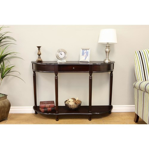 MegaHome Espresso Storage Console Table