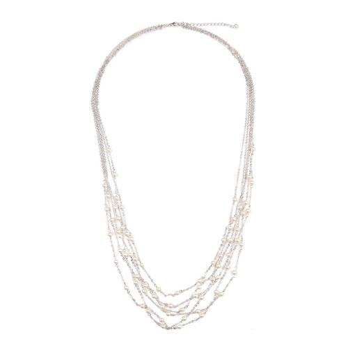 Multi-Pearl Chain Necklace