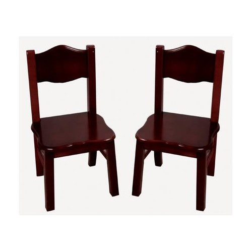 Classic Espresso Kids Chairs - Set of 2