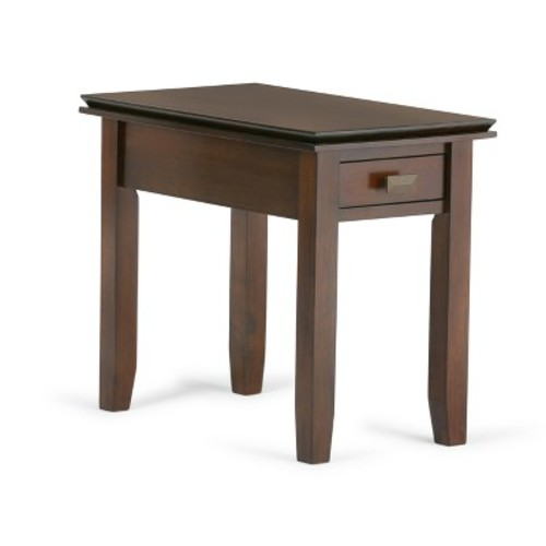 Simpli Home Artisan Medium Auburn Brown Storage Side Table