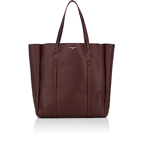 Balenciaga Everyday M Logo Leather Tote Bag
