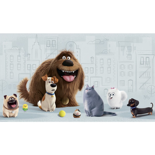 Secret Life of Pets XL Chair Rail 6-foot x 10.5-foot Ultra-strippable Prepasted Mural