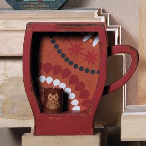 Zingz & Thingz Distressed Coffee Cup Shelf
