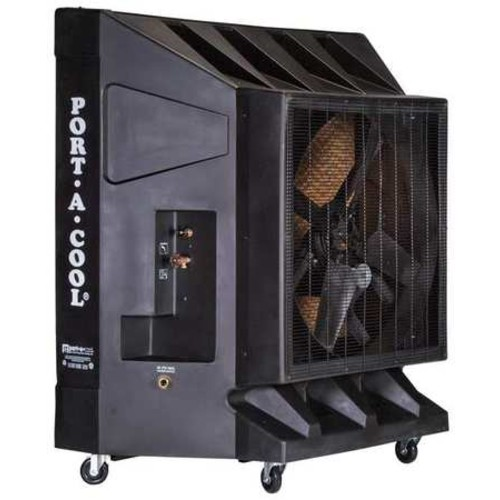 Portacool PAC2K361S 36-Inch 9600 CFM Portable Evaporative Cooler, 2500 Square Foot Cooling Capacity, Black, Single Speed [Portable Cooler]