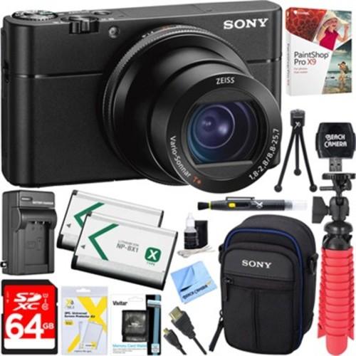 Sony DSC-RX100 V 20.1MP Cyber-shot Digital Camera + 64GB Dual Battery Accessory Kit