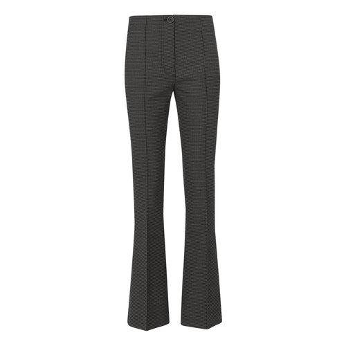 HELMUT LANG Grey Houndstooth Cropped Flare Pants