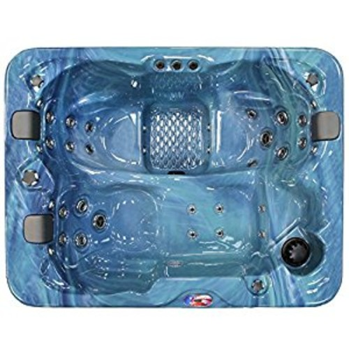 American Spas AM-534LP 3-Person 34-Jet Longer Spa with Bluetooth Stereo System, Pacific Rim and Mist [Pacific Rim and Mist]