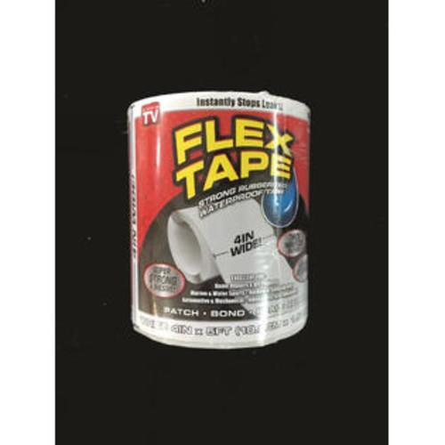 Flex Tape TFSWHTR0405 Rubberized Waterproof Tape, White, 4